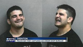 Man arrested for trying to steal registers from metro Detroit ice cream shop - Video