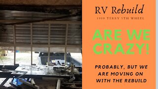 RV Remodel - Rebuilding Water Damaged RV - Removing Rot and Starting The Rebuild - #4