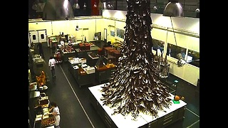 4-Ton Chocolate Christmas Tree - Video