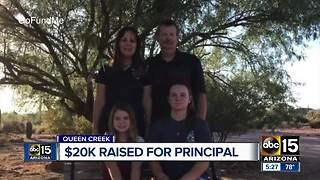Queen Creek community raises $20k for school principal with cancer - Video