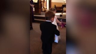 Adorable Ring Bearer Wants To Be The Flower Boy - Video