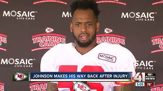 Johnson makes his way back after injury - Video