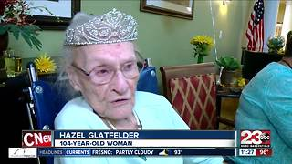 Hazel Glatfelder of Bakersfield turns 104 - Video