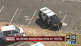 PD: Man found dead in Mesa hotel parking lot - Video