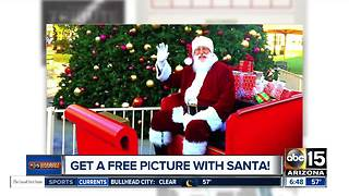 Get a FREE picture with Santa Claus! - Video