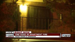 1 dead after apartment fire near Paradise, Twain - Video