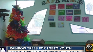 Rainbow trees with tags to help LGBTQ homeless youth - Video