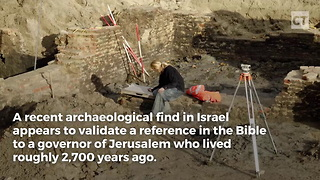 Archaeological Find Validates Jewish People's Claim To Jerusalem - Video