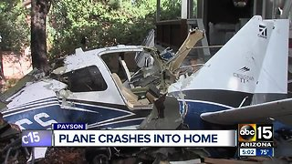 Pilot dies after plane crashes into Payson home
