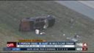 Multi-vehicle crash on Alligator Alley leaves 1 dead, 16 injured in Broward County - Video