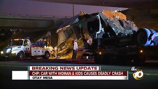 CHP: car with woman & kids causes deadly crash - Video
