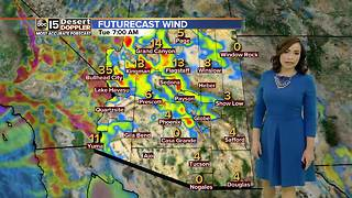 Gusty winds bringing cooler temperatures into the state - Video