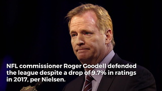 Roger Goodell Pats Himself On The Back For NFL Ratings, While They Continue To Drop - Video