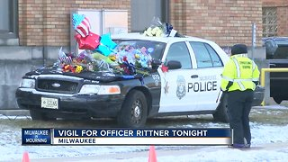 Vigil for MPD Officer Matthew Rittner on Friday night