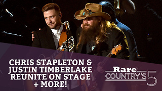 Chris Stapleton & Justin Timberlake Reunite Onstage + More | Rare Country's 5 - Video