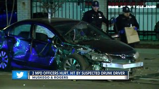 Two Milwaukee Police officers hurt after suspected drunk driver strikes squad car