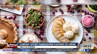Thanksgiving-flavored ice cream