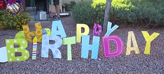 Henderson girl celebrates drive-by birthday