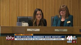 Mission swears in first female-majority council - Video