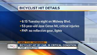 Bicyclist hit by car, in critical condition - Video