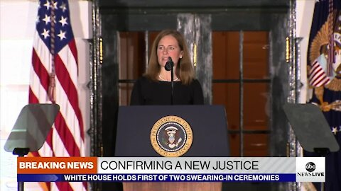 Watch again: Amy Coney Barrett takes first of two oaths to Join the U.S. Supreme Court at White House ceremony