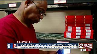 Food banks struggle to feed hungry families