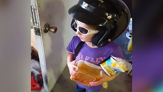 Girl's Mysterious Missing Helmet - Video