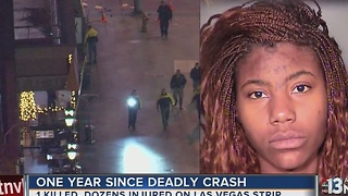 Dec. 20 marks one year car crashed onto Las Vegas Strip sidewalk - Video