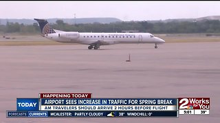 Airport sees increase traffic for Spring Break