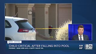 2-year-old in critical condition after being pulled from Phoenix pool