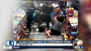 Cough starts fight at convenience store