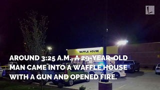Hero in Waffle House Shooting Recalls Moment He Feared He'd Never See Daughter Again - Video