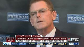 Federal charges filed against Douglas Haig - Video
