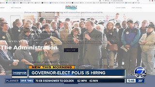 Govenor-Elect Jared Polis is hiring