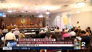 College Park allowing non-citizens to vote in city elections - Video