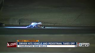 Pedestrian hit near Charleston and Nellis - Video