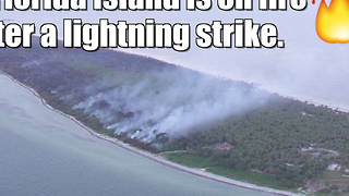 Wildfire on Florida's Egmont Key - Video