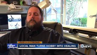Disabled man hopes hobby helps with 1 October healing - Video