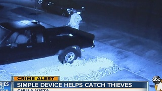 Simple device helps police catch thieves - Video