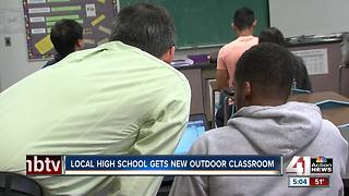 Local high school gets new outdoor classroom - Video