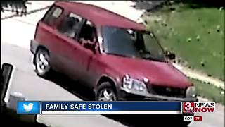 Car takes off with family's life savings - Video