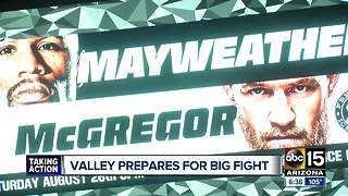 Friday night preps for big Mayweather, McGregor fight - Video