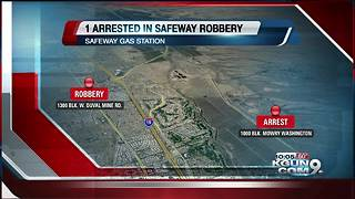 Safeway armed robbery suspect taken into custody - Video