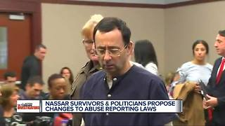 Harsher penalties proposed for failure to report child abuse in wake of Nassar - Video