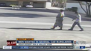 Men wanted in several car burglaries - Video