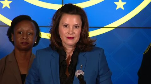 Gov. Whitmer gives an update after first cases of coronavirus confirmed in Michigan