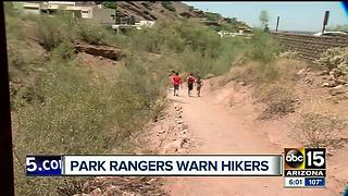 Hikers continue to hit the trails in 110 degrees - Video