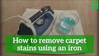 How to remove carpet stains using an iron