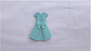 Origami magic: How to make a paper dress - Video