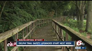 Delphi trail safety upgrades start next week - Video